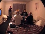 fight in an L.A HOTEL ROOM  two of the exploiteds roadies fight it out  in L.A hotel room 2003