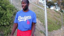 Aspirational Baseballer Camps Outside LA Dodgers  Stadium