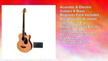 Acoustic Electric Guitars Bass Beginner Pack Dreadnought Acoustic Guitar