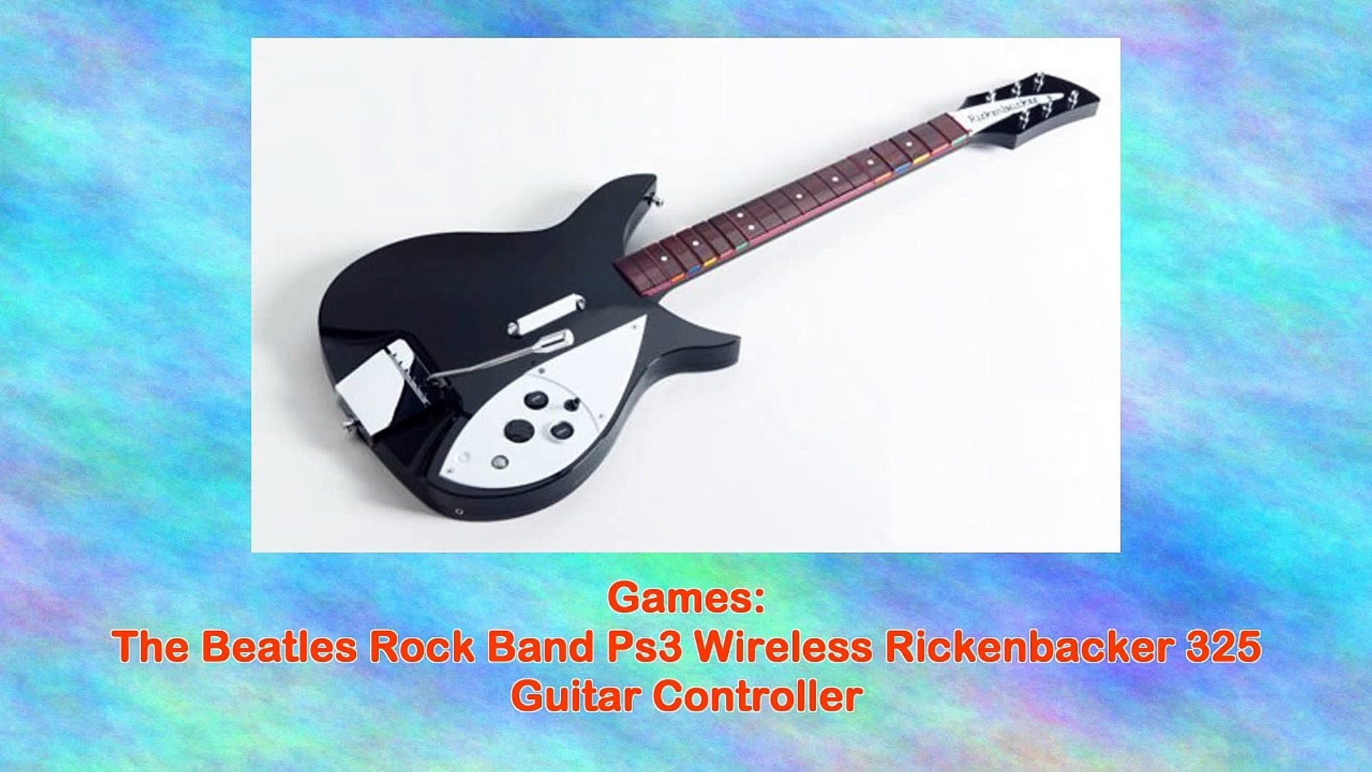 The Beatles Rock Band Ps3 Wireless Rickenbacker 325 Guitar Controller