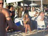 Nick Carter BSB Backstreet Boys Cruise 2010 shirtless lotion volleyball Beach Party