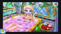 Disney Frozen Games   Elsa Christmas Spa Bath   Disney Frozen Games for Girls
