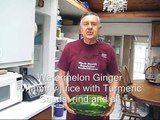 Watermelon ginger juice with Turmeric on a WHF juicer: A Norwalk juicer alternative.