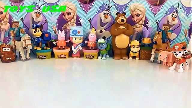 Shopkins Peppa Pig Minnie Mouse meet new friends peppa pig Маша и Медведь Paw Patrol