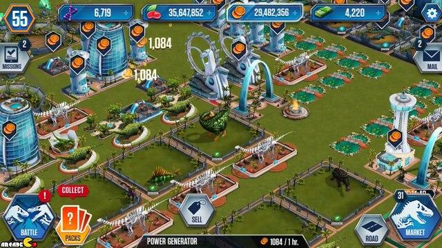 Hybird Indominus Rex Vs 3 Dinosaurs Live Challenge Battle Free Pack - Jurassic World The Game!