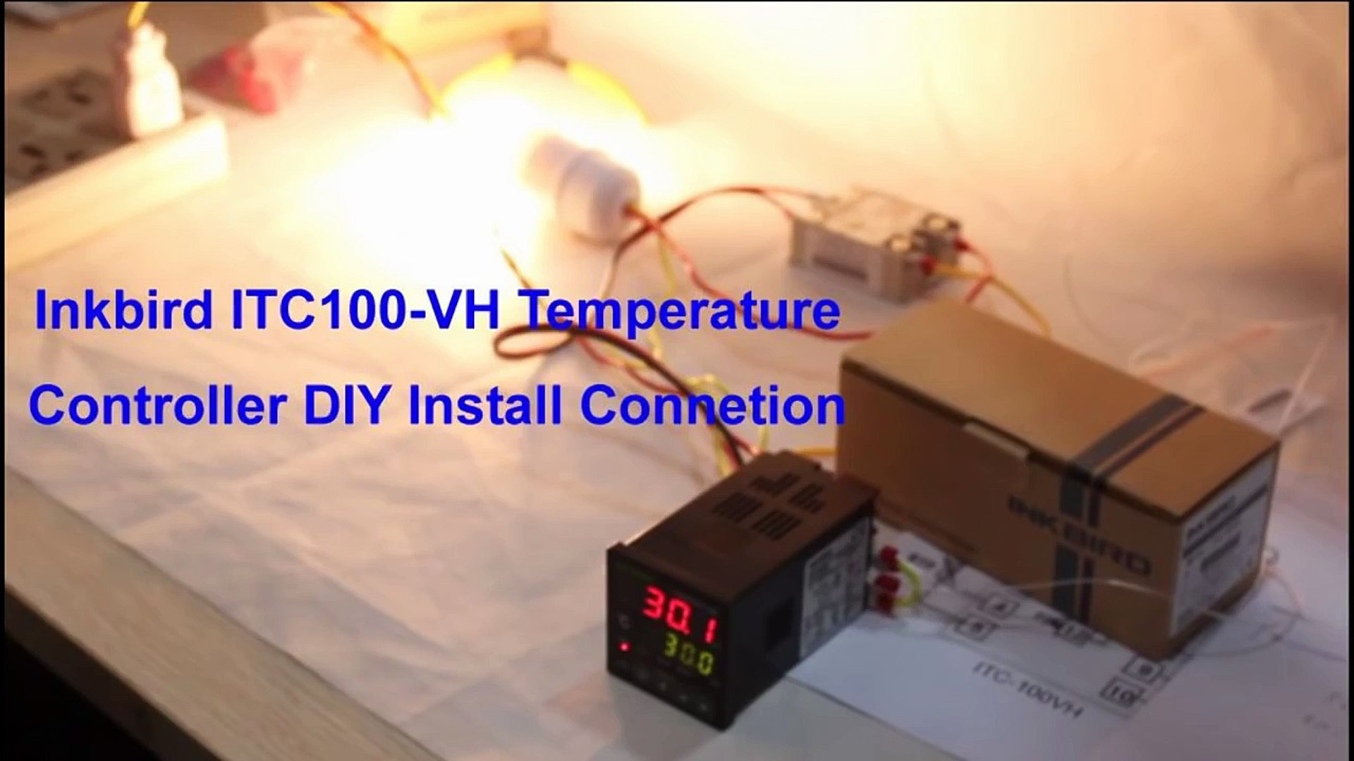 How to Connect and Set PID Temperature  Controller? ITC-100VH