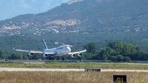 Atterrissage du Boeing 747 Air France sur l'Aéroport d'Ajaccio le 23.08.2009 hd 720p