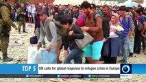 Asylum seekers break through police lines in Hungary