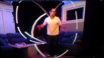 Kinect Virtual Glowsticks in Anaglyph 3D