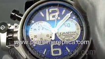 Swiss replica watches replica Graham Chronofighter Oversize Ranger Blue Dial on Black Rubber Strap A