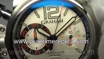 Swiss replica watches replica Graham Chronofighter Oversize Ranger Silver Dial A7750 PureTime Watche