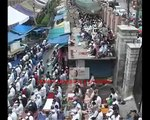Pakistani flags were hoisted during prayers in a mosque in Kashmir July 2015