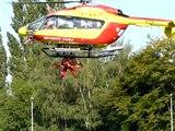 Liévin,exercice au congrés des Sapeurs-Pompiers.