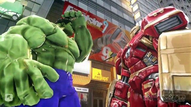 Đại Chiến Người Khổng Lồ Xanh Hulk  VS  hulkbuster Siêu Người Máy