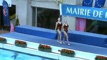 Duo junior Aix Frackowiack / Mejean championnats de France Elite open 2009 natation synchronisée