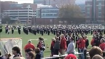 OSU Marching Band field rehearsal