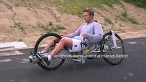 arms feet powered recumbent trike tricycle velo couché ligfiets hpv rameur propulsion bras jambes