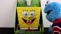 Spongebob Squarepants Talking Cookie Jar meets Sesame Street Cookie Monster eating Play Doh Cookies!