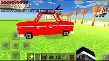 MCPE MECH MOD - car,tank and more ! MCPE 0.11.0