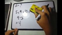 SEQUENCES, ARITHMETIC SERIES AND ARITHMETIC MEAN