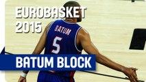 Batum Swats Ohayon's Lay-Up Attempt - EuroBasket 2015