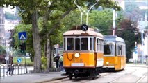 Nostalgic trams on Tram Line nr. 2 in Budapest