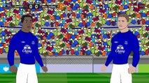 Everton VS Manchester United 3-0 2015 ~Manchester United VS Everton 0-3 ~ Cartoon [HD]