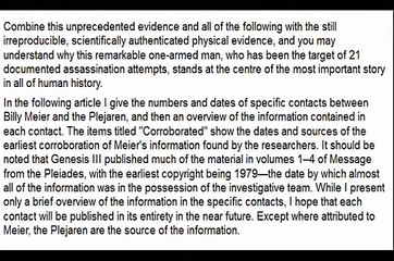 The Henoch Prophecies from the Billy Meier Contacts Part 1