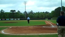 TCC President Jim Murdaugh throws out  first pitch at  TCC B