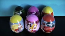 6 Surprise Eggs SpiderMan Winnie the Pooh Disney Princess Pixar Cars StarWars Toys Fun Kids