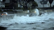 Grande marée et Tempête 2014 - Bretagne Morbihan Port-Navalo