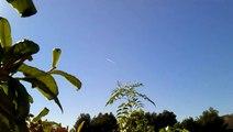 Mirando al Cielo 28 12 2012 - Fumigaciones Clandestinas Aéreas - en el Leon Dormido (Alicante)