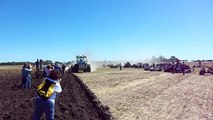 "Kinze Big Blue ""Double Trouble"" plowing at the Half Century of Progress in Rantoul, IL"