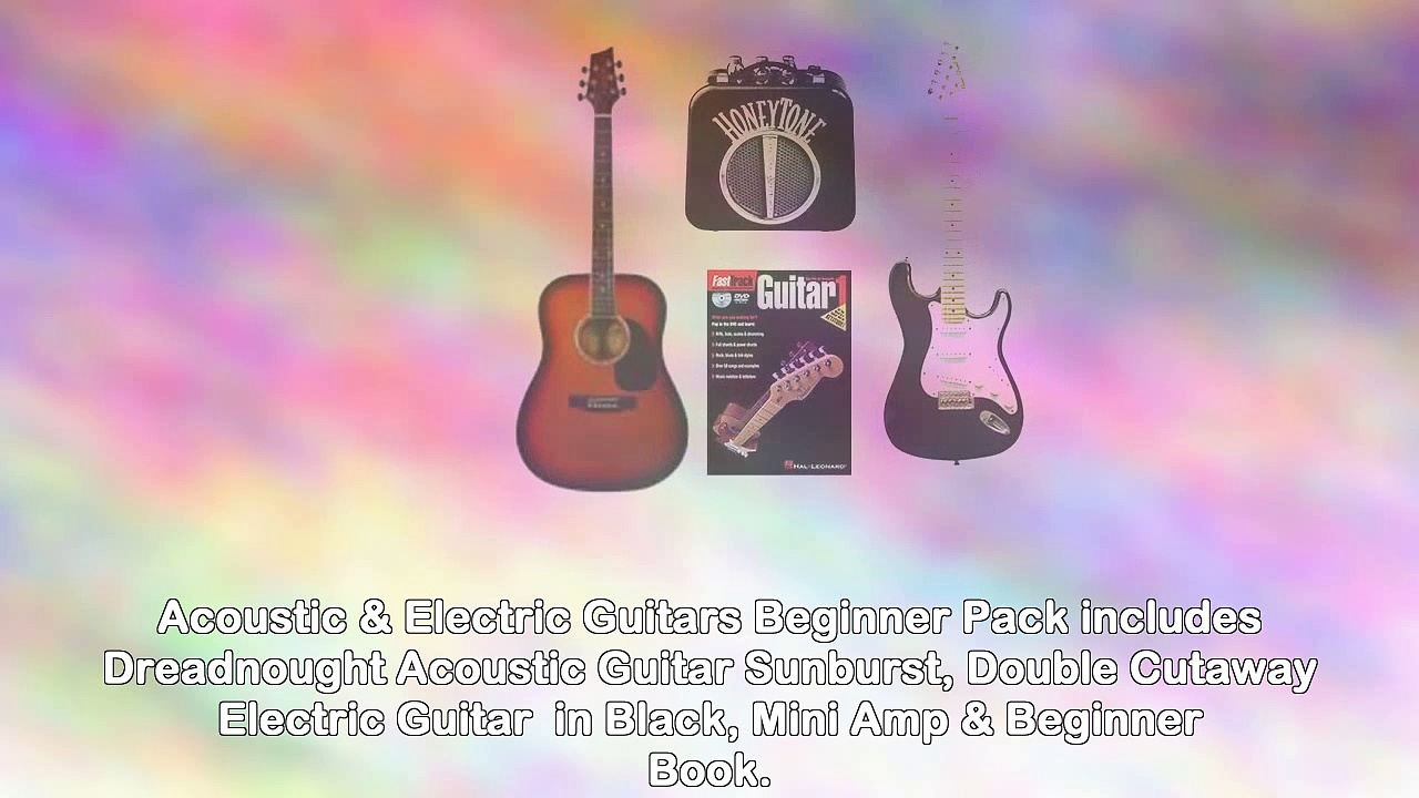 Acoustic Electric Guitars Beginner Pack Dreadnought Acoustic Guitar Sunburst Double