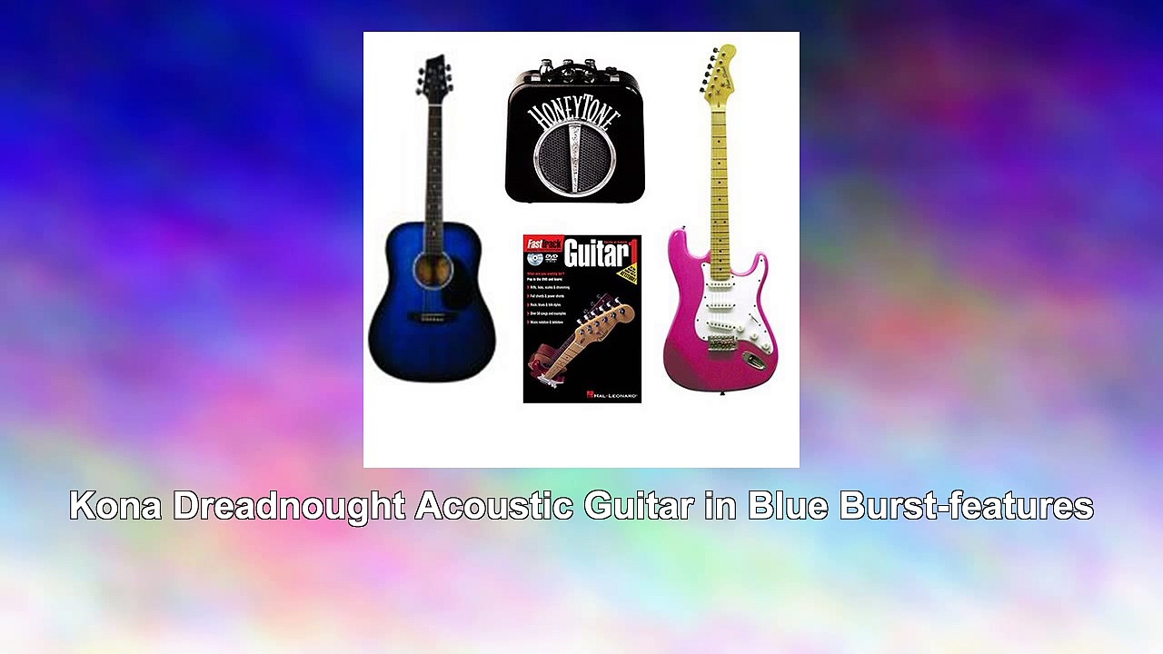 Acoustic Electric Guitars Beginner Pack Dreadnought Acoustic Guitar in Blue