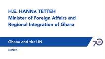 H.E. Hanna Tetteh - Ghana and the UN