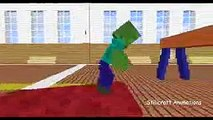 Monster School Crafting Minecraft Animation - minecraft walking dead animation
