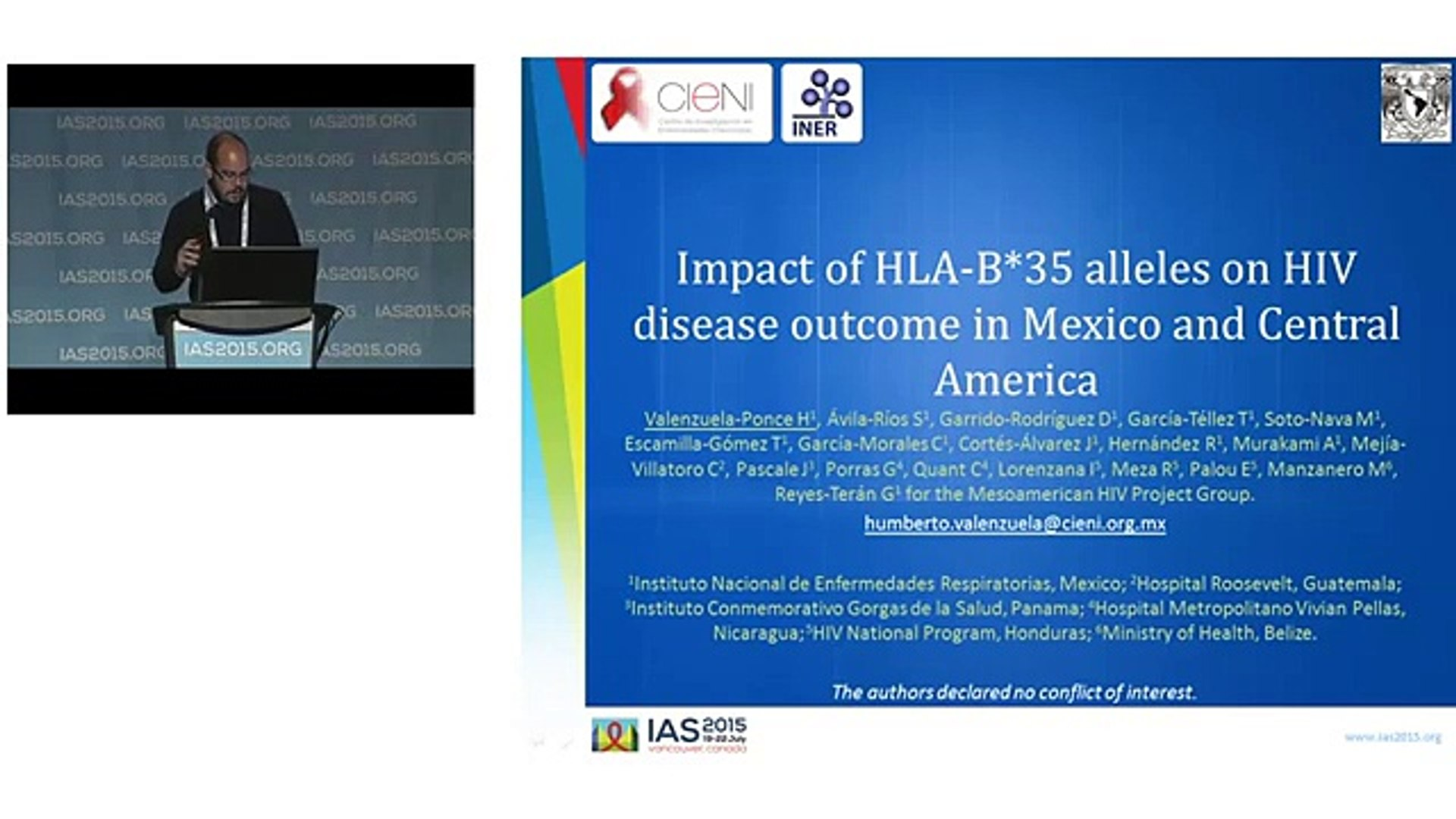 WEAA0103 - Impact of HLA-B*35 alleles on HIV disease outcome in Mexico and Central America