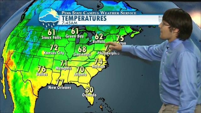 Thursday 9/10 Weather Forecast