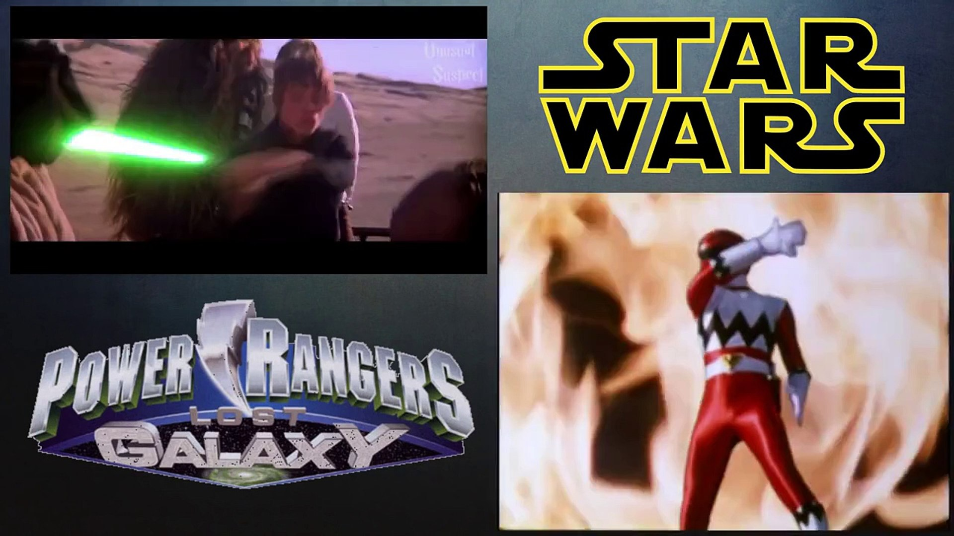 Star Wars Power Rangers Lost Galaxy Style Comparison Video