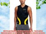 Skins Men's Compression Tri 400 Mens Top Sleeveless W Zip Black/Yellow L T50052030L