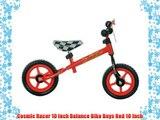 Cosmic Racer 10 inch Balance Bike Boys Red 10 Inch