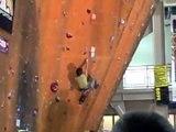Chris Sharma Rock Climbing Nationals 08 (HUGE Fall)