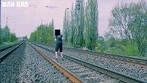 Des gars chanceux presque tués par des trains - Compilation flippante!