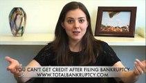 Credit After Filing Bankruptcy