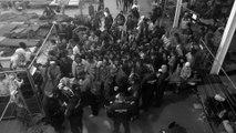 """Refugiados alimentados """"como animais"""" na Hungria"""