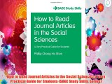 How to Read Journal Articles in the Social Sciences: A Very Practical Guide for Students (SAGE