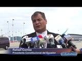 Declaraciones del Presidente Rafael Correa a su arribo a Bruselas, Bélgica