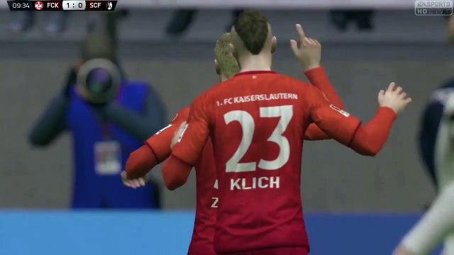 1.FC Kaiserslautern vs SC Freiburg | 11.09.2015 | All Goals and Highlights | 2. Bundesliga | HD
