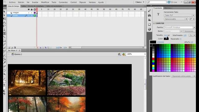 Galeria de Imágenes Interactiva Flash CS5 2011 TUTORIAL ESPAÑOL